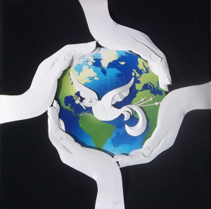 """""""Circle of Peace"""" Paper Sculpture by Nina Fusco"""