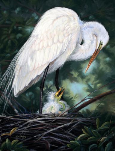 """Under Mom's Watchful Eye"""