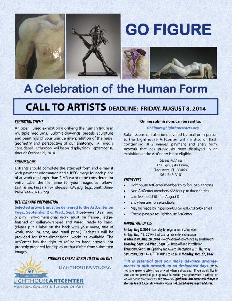 Go Figue Call to Artists 2014