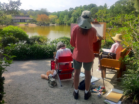 Plein Air Painters at the Morikami Museum