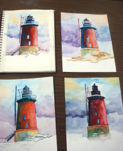 """Four Lighthouses"" by Anita Lovitt"