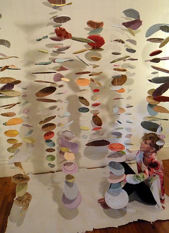 Del Foxton's Handmade Paper Mobile