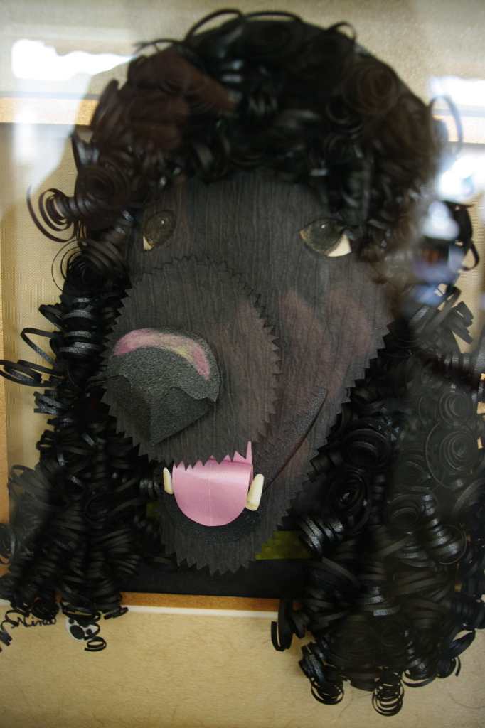 Paper Cut Poodle by Nina Fusco