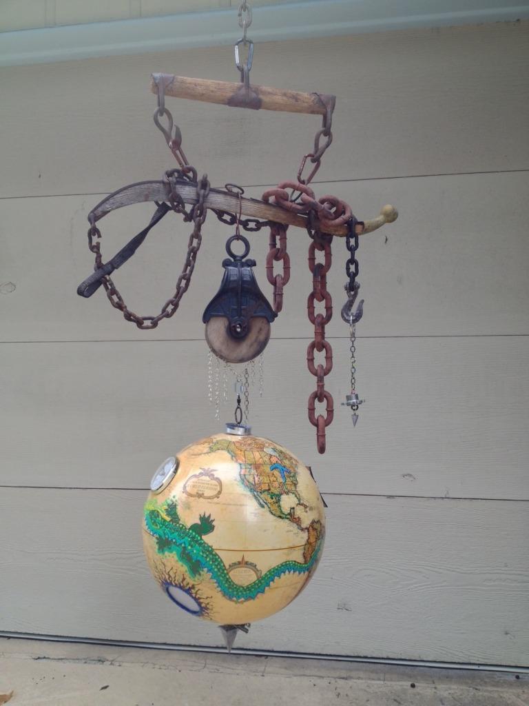"""""""Lizard Globe"""" by Debbie Mostel"""