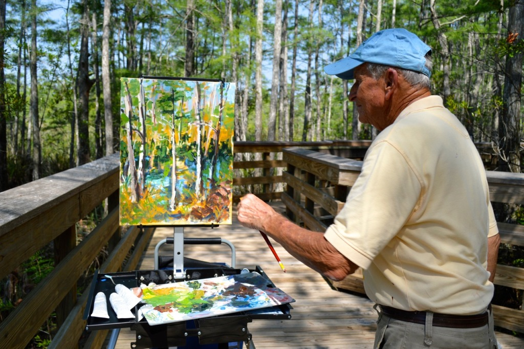 Steve Nash painting at Grassy Waters Preserve in W. Palm Beach