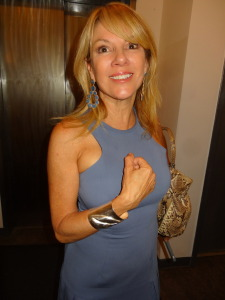 Debbie Mostel bracelet worn by Remona Singer at the Mellinium Magazine Lounge