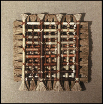 Linen and Reed Wall Hanging by Leora Klaymer Stewart