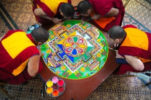 Creating the mandala