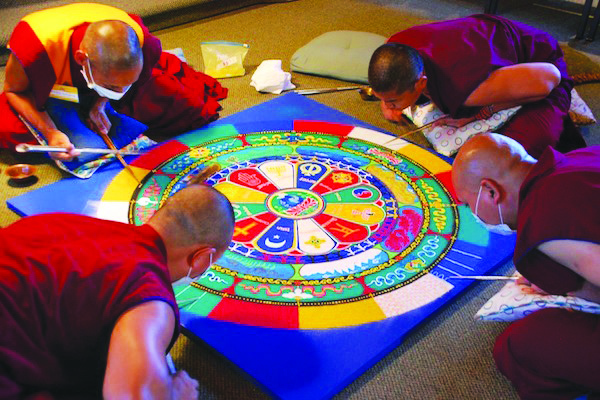 Finishing the mandala