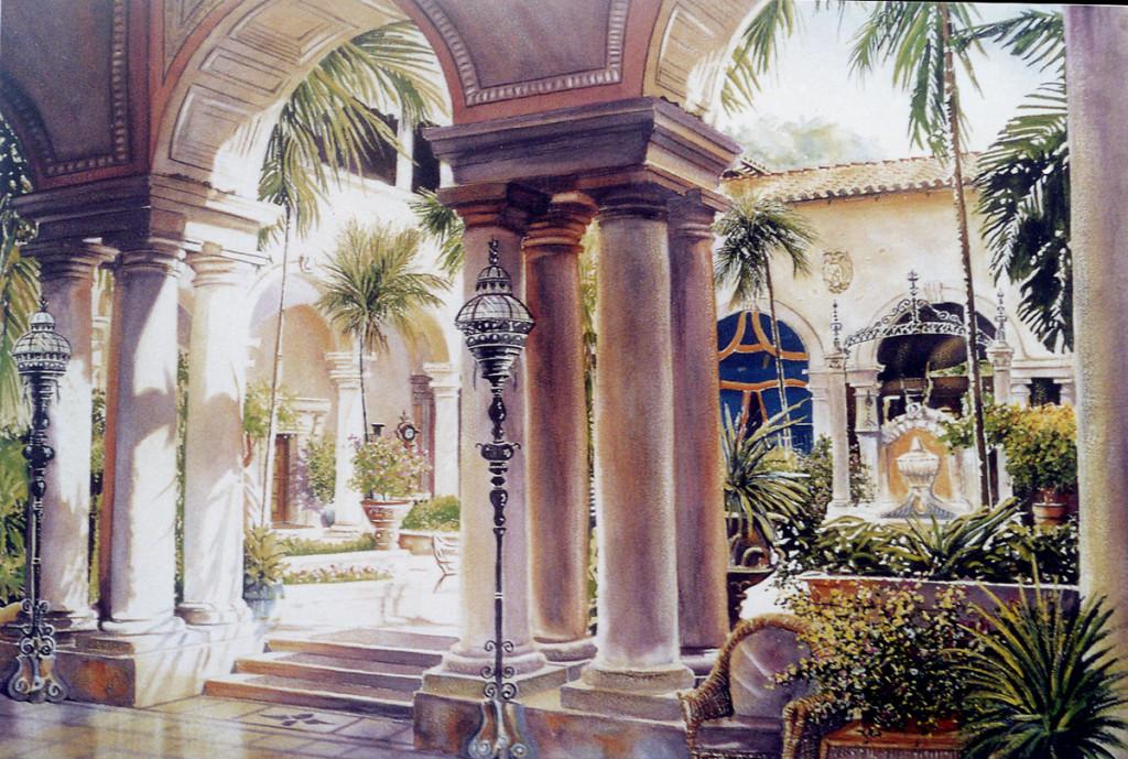 """""""Vizcaya Courtyard"""" by John Bowen"""