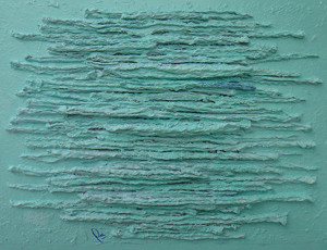 Handmade paper Wall art by Del Foxton