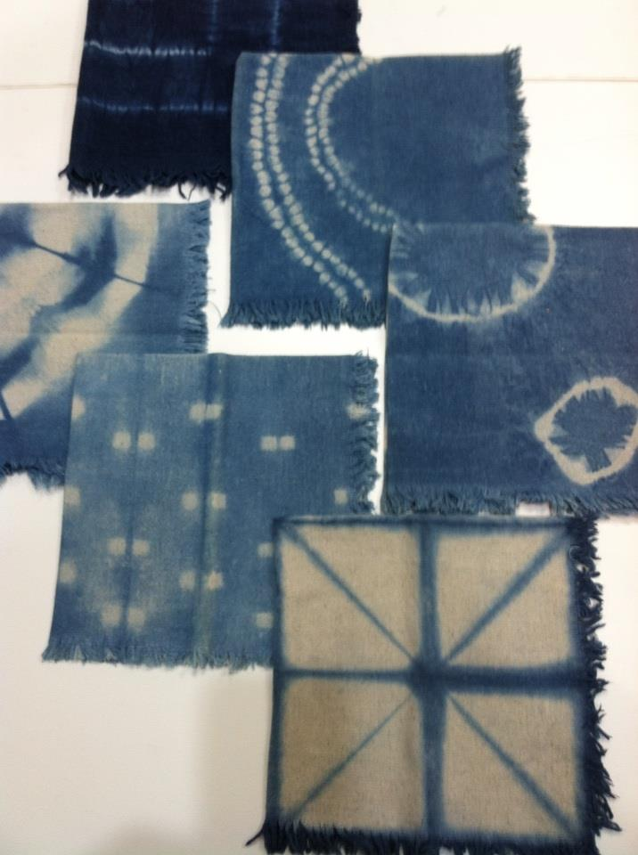 Shibori dyed Napkin Sets