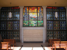 Conrad Pickel Mausoleum Stained Glass in Boynton Beach, FL