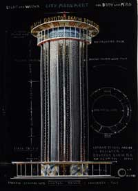 Drawing of Conrad Pickel Water Tower Surround