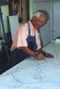 Conrad Pickel at work, Photo Courtesy of Conrad Pickel Studio Website