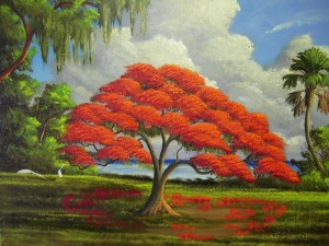 Original Painting by Highwayman Jimmy Stovall, the inspiration for the Jenkins Mural in Hobe Sound