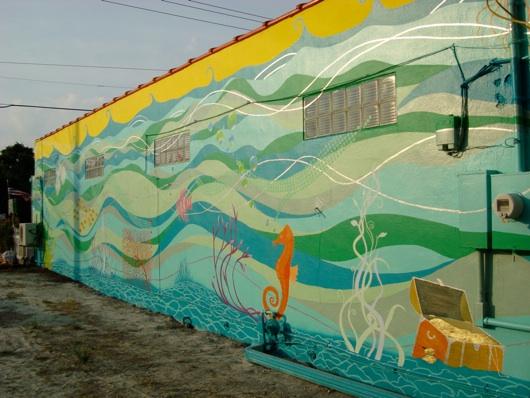 "Hobe Sound Mural #3  ""Ocean Jazz"""
