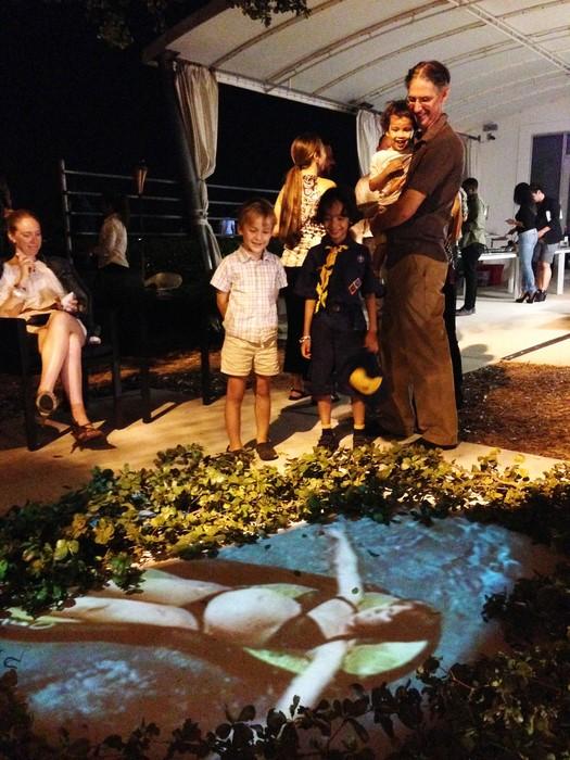 """Cat Del Buono's """"Swimming Upstream"""" OUTSIDE THE BOX2, 2014"""